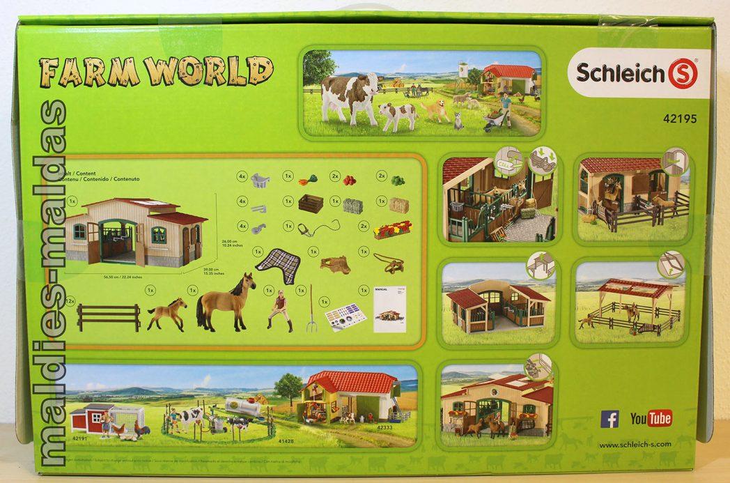 Action- & Spielfiguren Schleich Farm World 42195 Pferdestall mit Pferden und Zubehör